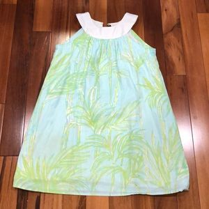 Lily Pulitzer Leaf Design Girls Size 8 Dress.